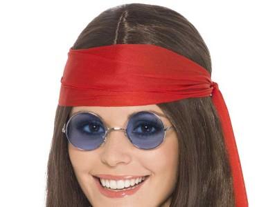 Set hippie 2 peruca medalion ochelari