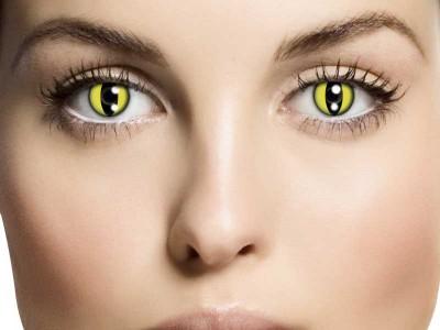 Lentile de contact Yellow Cat