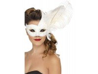 Masca venetiana Columbina alba