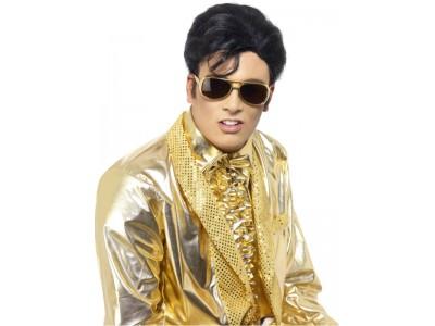 Ochelari Elvis cu rama aurie
