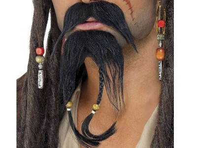 Set barba si mustata Jack Sparrow