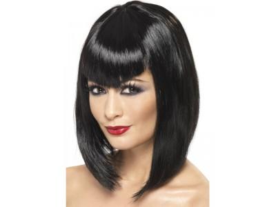 Peruca Vamp Wig neagra