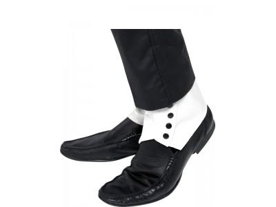 Jambiere albe pentru pantofi negrii