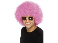 Peruca Funky Afro roz