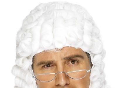 Peruca de Judecator alba