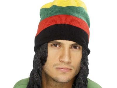 Caciula de rastafarian cu dreaduri
