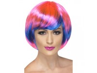 Peruca Funky babe roz-albastru