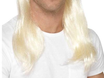 Peruca Mullet 80's Rock blonda