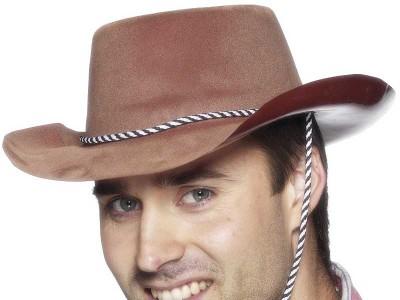 Palarie Cowboy maro - Economy